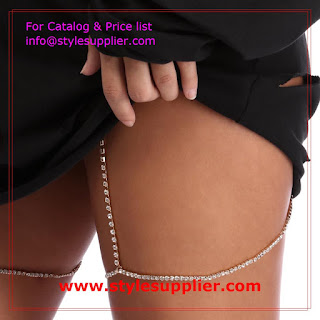 crystal garter belt