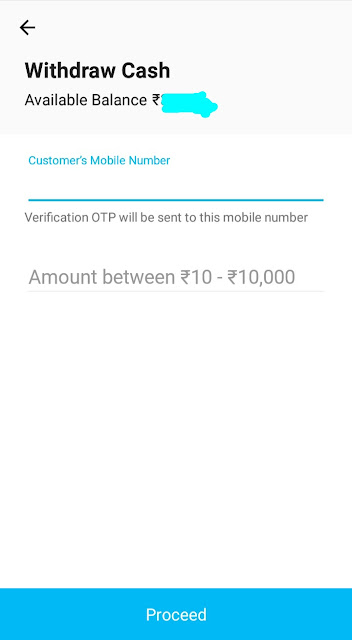 withdraw cash paytm payment bank