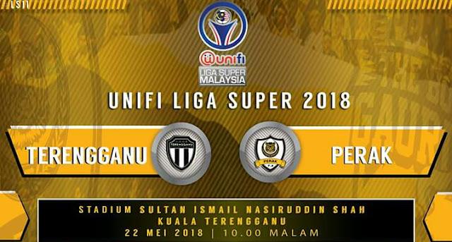 Live Streaming Terengganu FC vs Perak 22.5.2018 Liga Super
