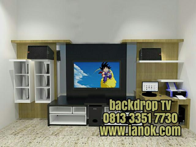 desain backdrop TV minimalis murah Surabaya sidoarjo