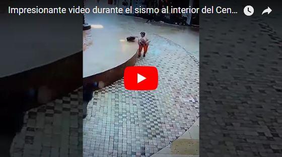 Esta señora se salvó por 1 segundo de ser aplastada durante el terremoto