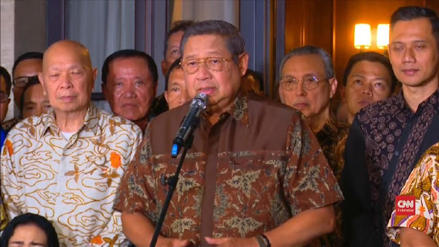 SBY Turun Langsung Persiapkan Debat Pilpres untuk Prabowo