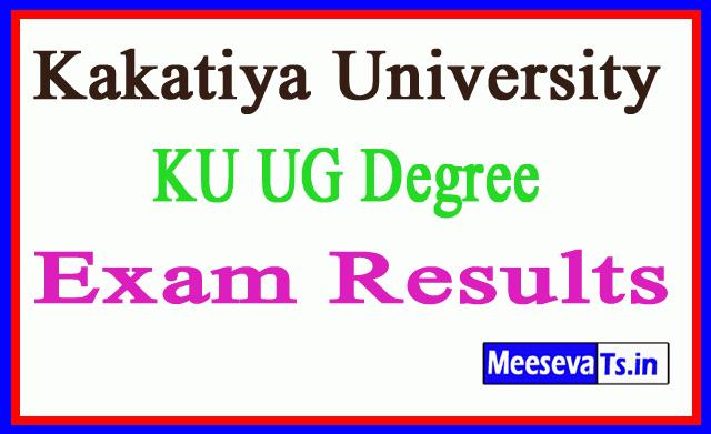 Telangana TS Kakatiya University KU UG Degree Results Download