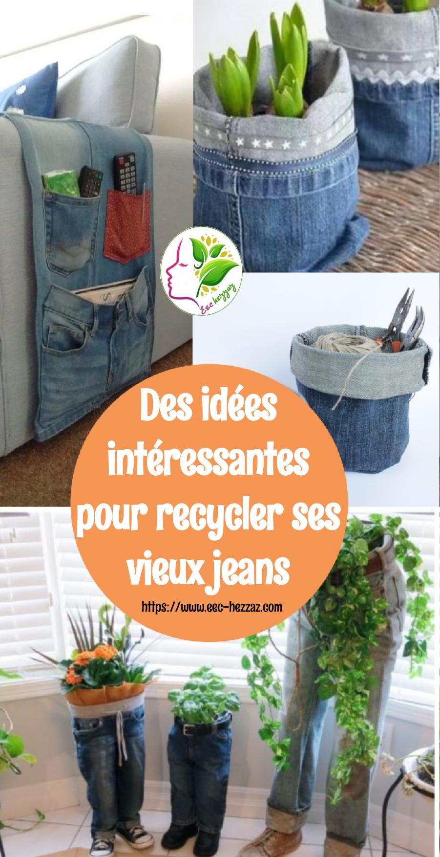 Des idées intéressantes pour recycler ses vieux jeans