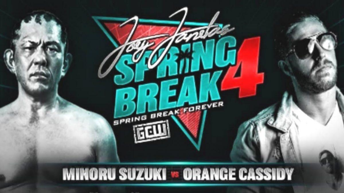 """Joey Janela promete """"Minoru Suzuki vs. Orange Cassidy"""" para o Spring Break"""