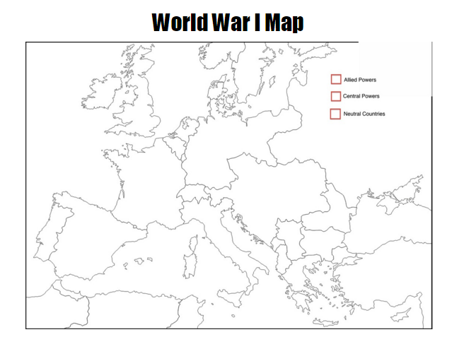 Mr barnhills history class wwi map blank 1112th history click map to enlargeprint gumiabroncs Images