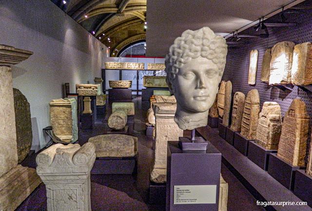 Esculturas romanas no Museu de Arqueologia de Lisboa