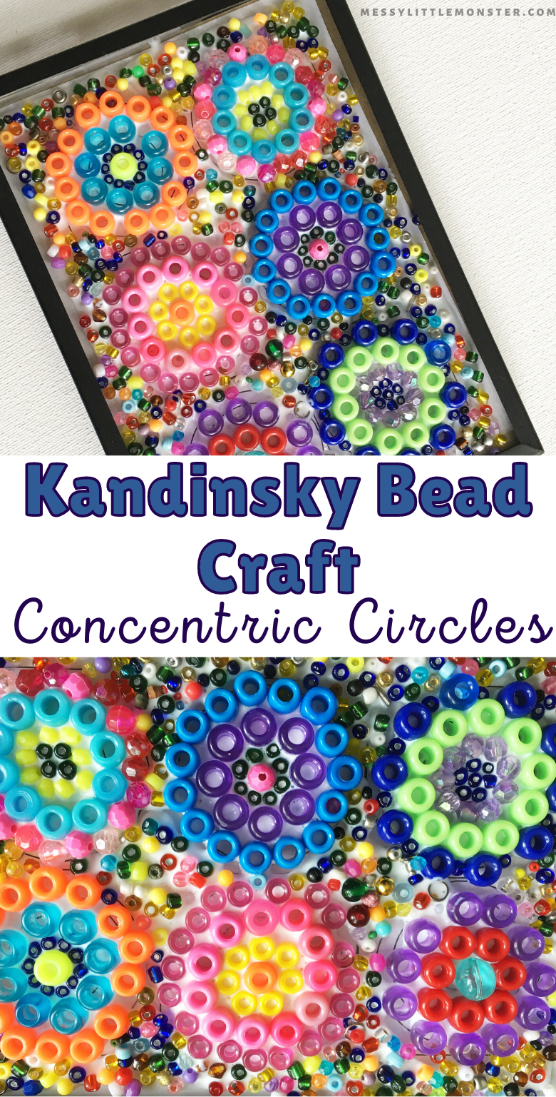 Kandinsky circles bead craft for kids. Famous artists for kids.