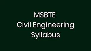 MSBTE-SYLLABUS