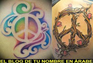Tatuajes con el simbolo de la paz