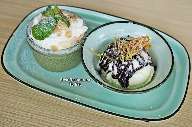 Matcha Magic Chia Seed with Almond Pudding and topped with Whipped Cream Eatropica Cafe Menara 1 Sentrum Nu Sentral Brickfield Kuala LumpurWestern and Malaysian Food at Eatropica Cafe Menara 1 Sentrum Nu Sentral Brickfield Kuala Lumpur