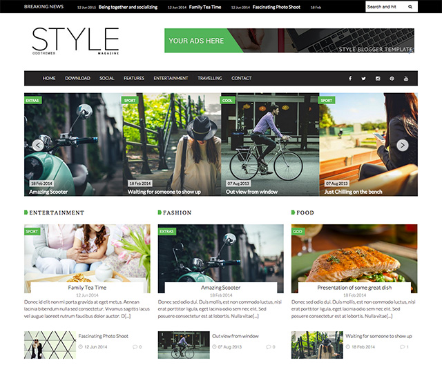 magazine blogger template