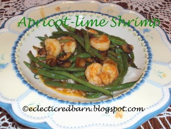 Eclectic Red Barn: Apricot-lime Shrimp