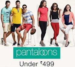 Pantaloon Men's Women's Clothing – Below Rs.499@ Amazon