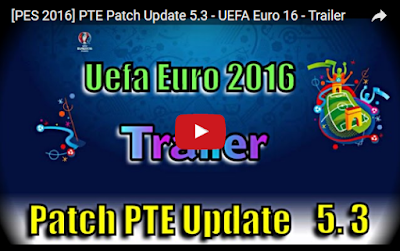 PES 2016 PTE Patch Update 5.3 UEFA Euro 2016