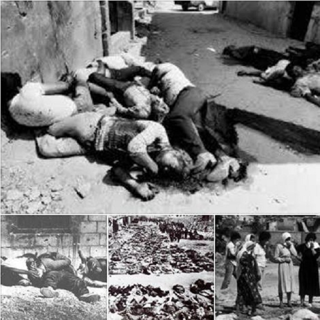 Pembantaian tragis Deir Yassin 300 warga sipil Palestina tak berdosa dibunuh pemukim Yahudi