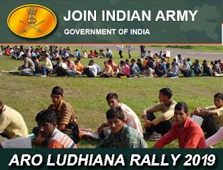 Indian Army Recruitment Rally ARO Ludhiana 2019-2020