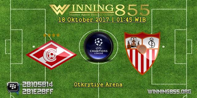Prediksi Skor Spartak Moscow vs Sevilla 18 Oktober 2017