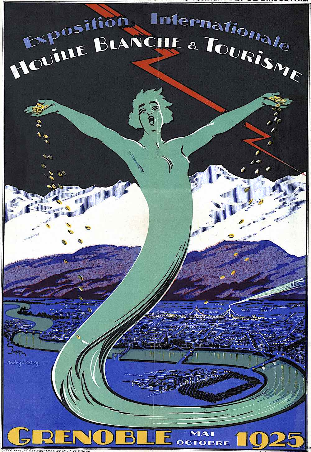 a 1925 poster for Grenoble Exposition Internationale