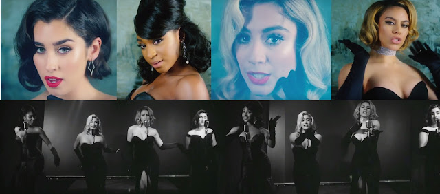 Still Images from Fifth Harmony's New Music Video 'Deliver' which gives Beyonce's 'Dreamgirls vibes