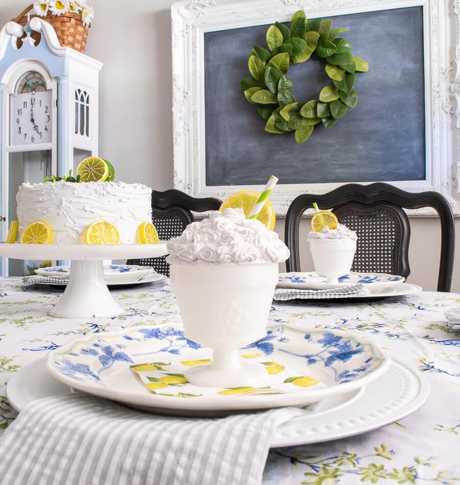 cottage summer dining decor