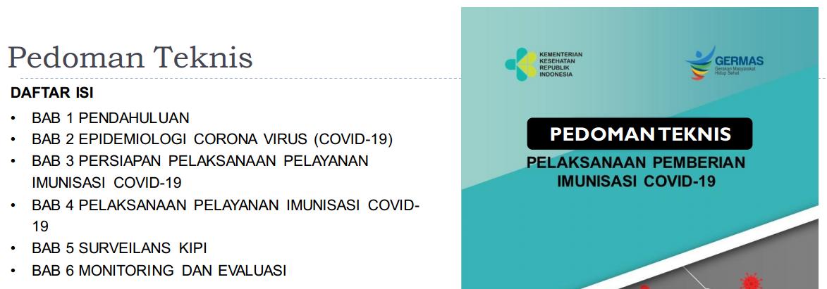 Pelaksanaan Pemberian Imunisasi Vaksinasi  SASARAN DAN JUKNIS PEMBERIAN VAKSINASI COVID-19
