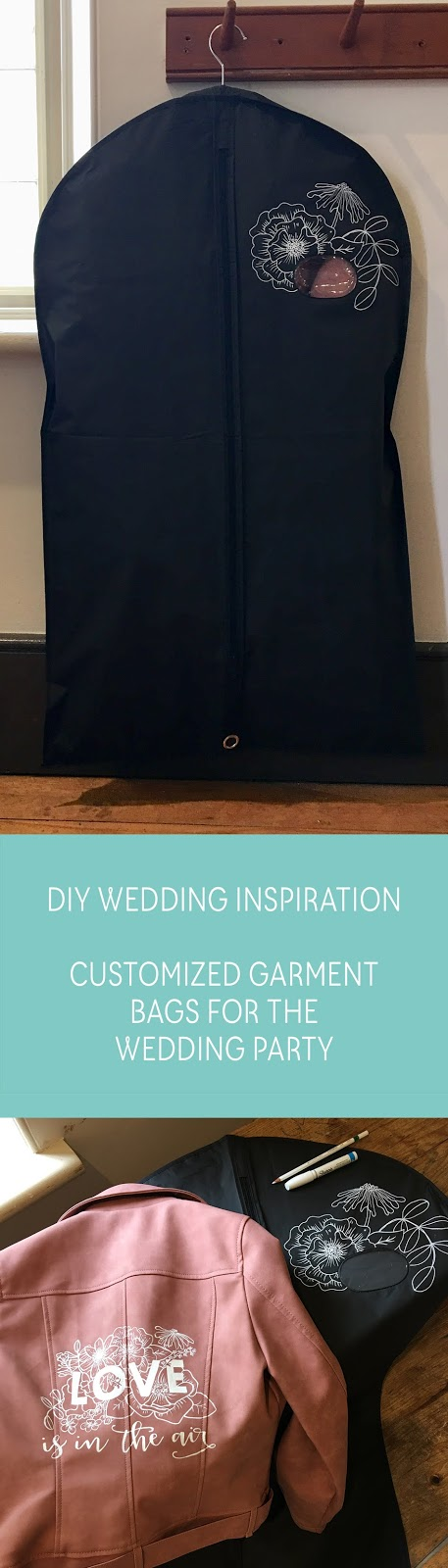 Creative DIY Inspiration - how to customize garment bags for your wedding party | Creative Bag
