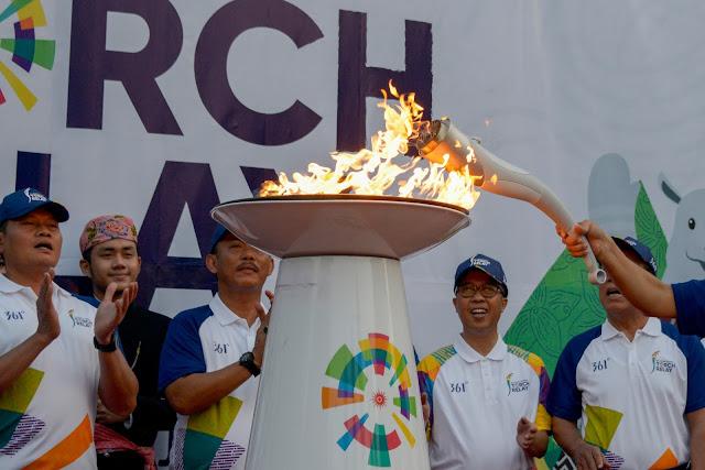 Obor Asian Games 2018 Tiba di Jakarta