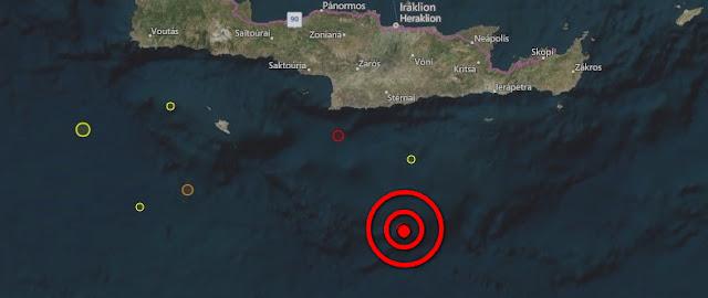4,3 ΡΙΧΤΕΡ <p> Νέος σεισμός νότια της Κρήτης
