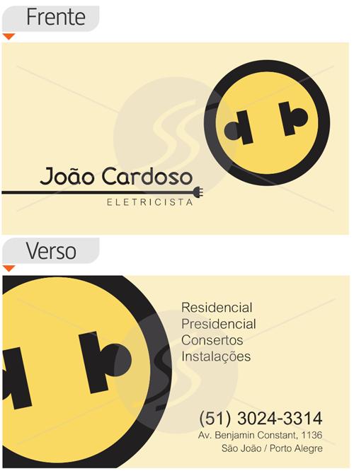 cartoes de visita eletricistas porto alegre - Cartões de Visita para Eletricistas, Criativos e plugados