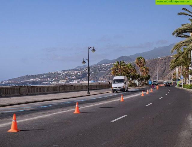 Santa Cruz de La Palma reabre al tráfico la Avenida Marítima en ambos sentidos