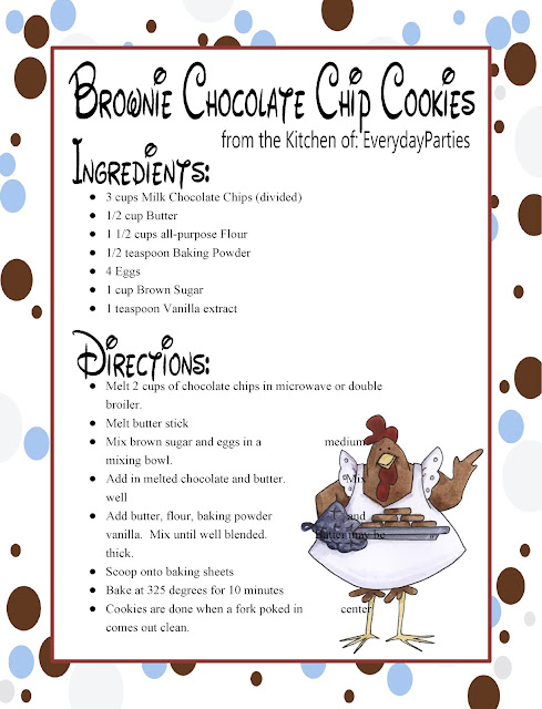 Since we are friends, I have to share this totally addictive and delicious brownie chocolate chip cookie recipe. It is so easy and ahh-mazing that we've made three batches this week. I'm pretty sure you'll thank me for this cookie recipe.