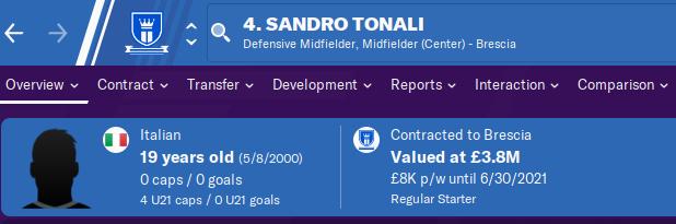 FM20 Wonderkid Analysis - Sandro Tonali