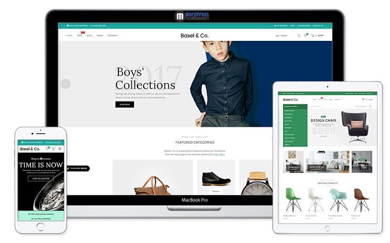 Basel Ecommerce Shopify Wordpress Theme