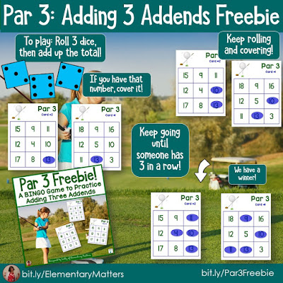 https://www.teacherspayteachers.com/Product/Adding-3-Addends-Golf-Themed-BINGO-Game-Freebie-277171?utm_source=95b&utm_campaign=Par%203%20freebie