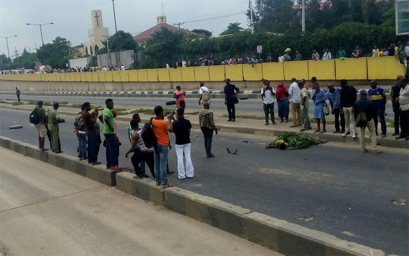 Photo of the dead hawker crushed by BRT bus