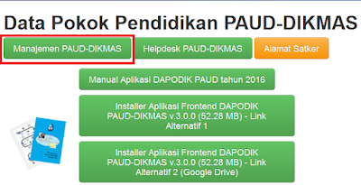 cara download dapopaud dikmas