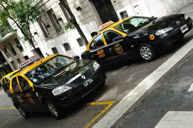 Gorjeta nos táxis em Buenos Aires