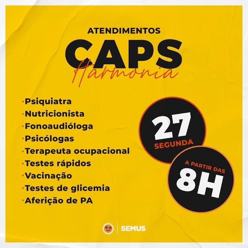 CAPS Harmonia de Lima Campos promove grande ação nesta segunda-feira.