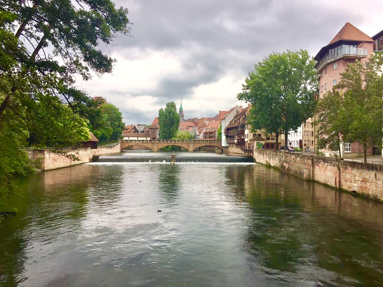 Nürnberg Pegnitz Kettensteg