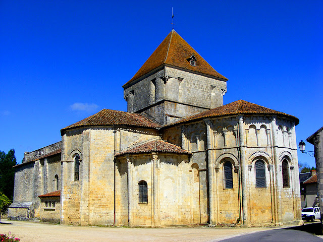 Eglise Saint Maurice la Clouere, Vienne. France. Photographed by Susan Walter. Tour the Loire Valley with a classic car and a private guide.
