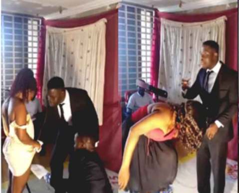 Pastor shaves his female church members during church program (video)