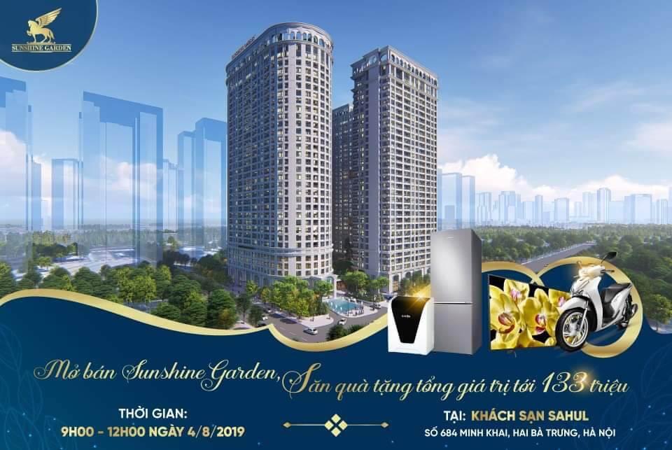 Mở bán căn hộ Sunshine Garden ngày 4/8/2019