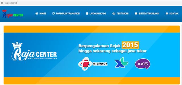 RajaCenter.ID Jasa Tukar Pulsa Berpengalaman Sejak 2015