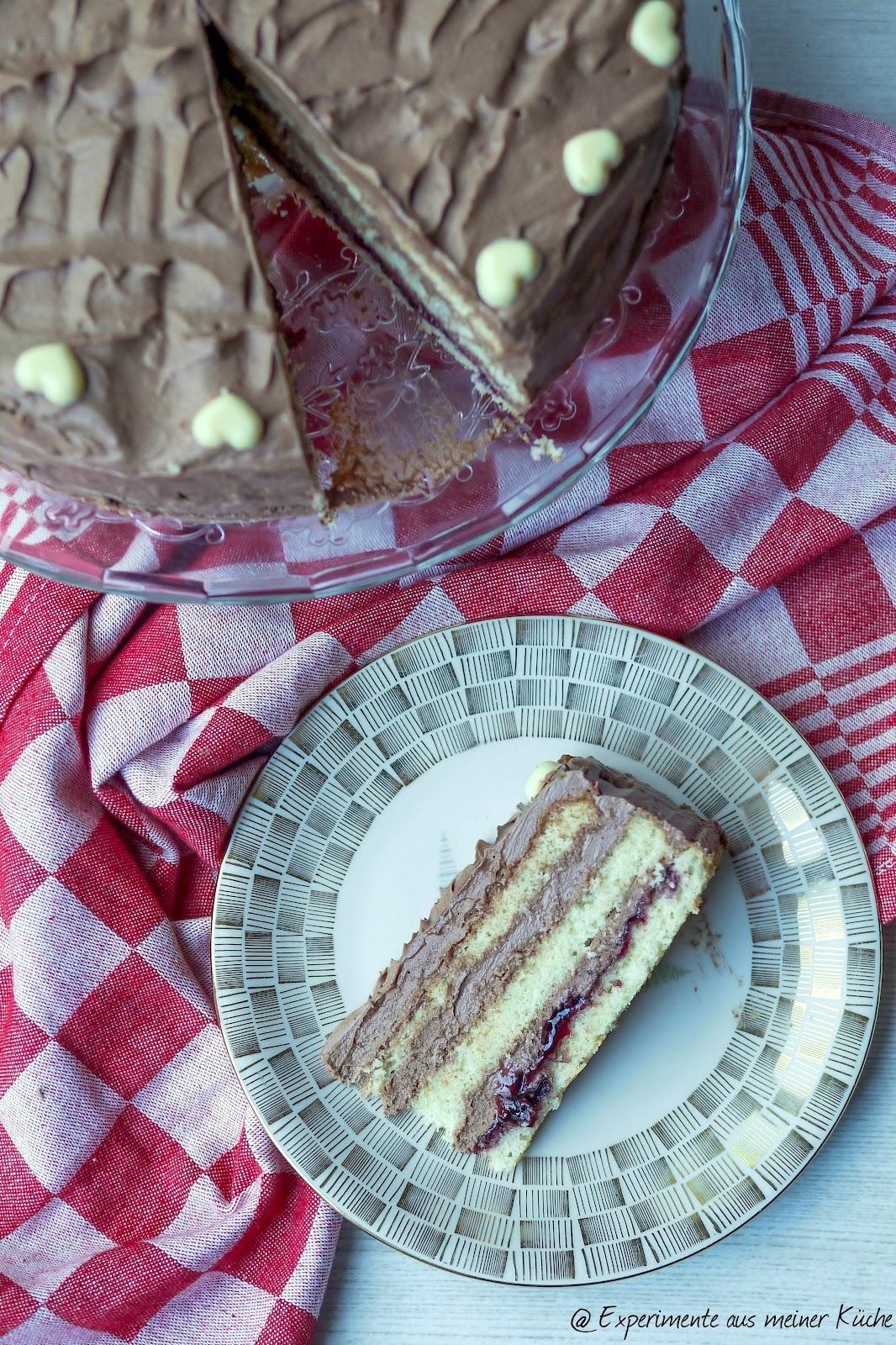 aus meiner Küche: Schokoladen-Buttercremetorte