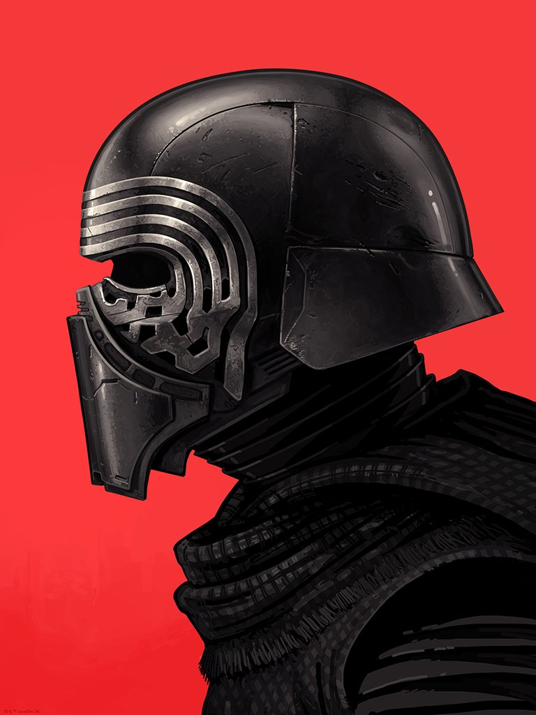 the geeky nerfherder coolart 39 kylo ren 39 by mike mitchell. Black Bedroom Furniture Sets. Home Design Ideas