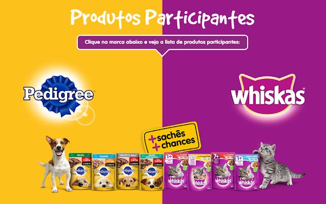Promoção Whiskas Sachê e Pedigree