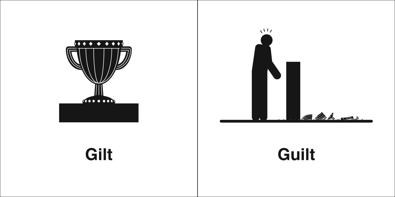 Homophones, Weakly: Gilt & Guilt