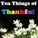 ttot, ten things of thankful, gratitude blog