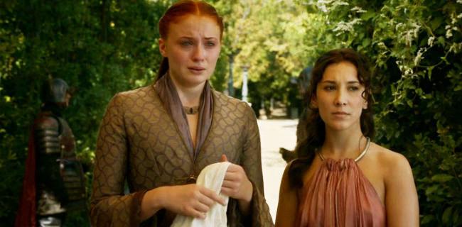 Sansa Catelyn violet et or alvéolée